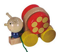 children_educational_toys_11771_snail_pull_along_handmade_wood_toy_turning