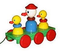 quality_wooden_toys_wholesale_3321_kids_pull_along_duck_and_duckling_toy